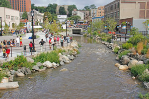 The other Sawmill River in Yonkers NY. Daylighted in 2011